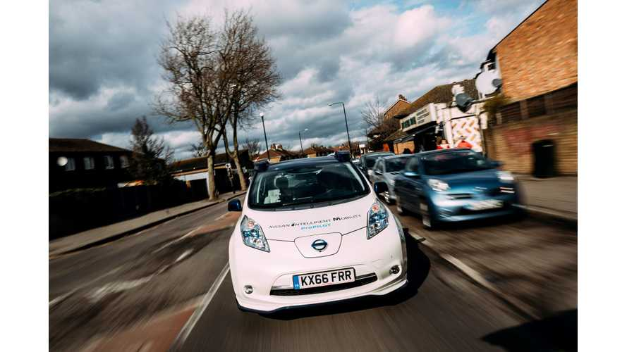Nissan LEAF's autonomous drive demonstration event – London