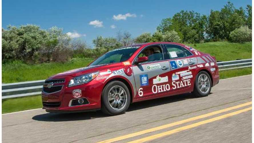 Ohio State Wins EcoCar2 With E85 Plug-In Hybrid Chevy Malibu