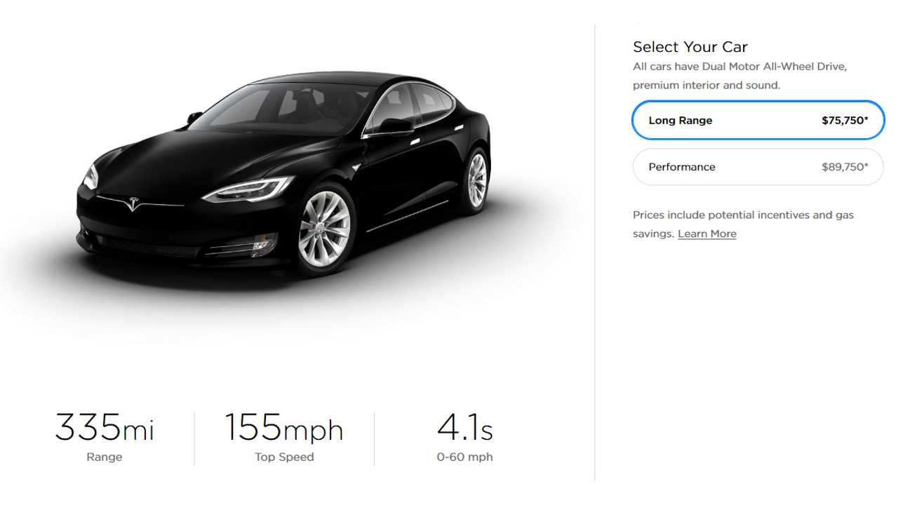 Tesla Model S offer in U.S. - March 22, 2019