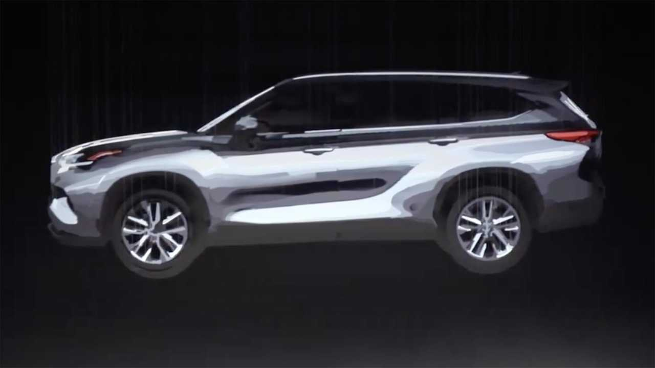 Toyota Suv Used >> 2020 Toyota Highlander Teases New Shape In Artistic Video