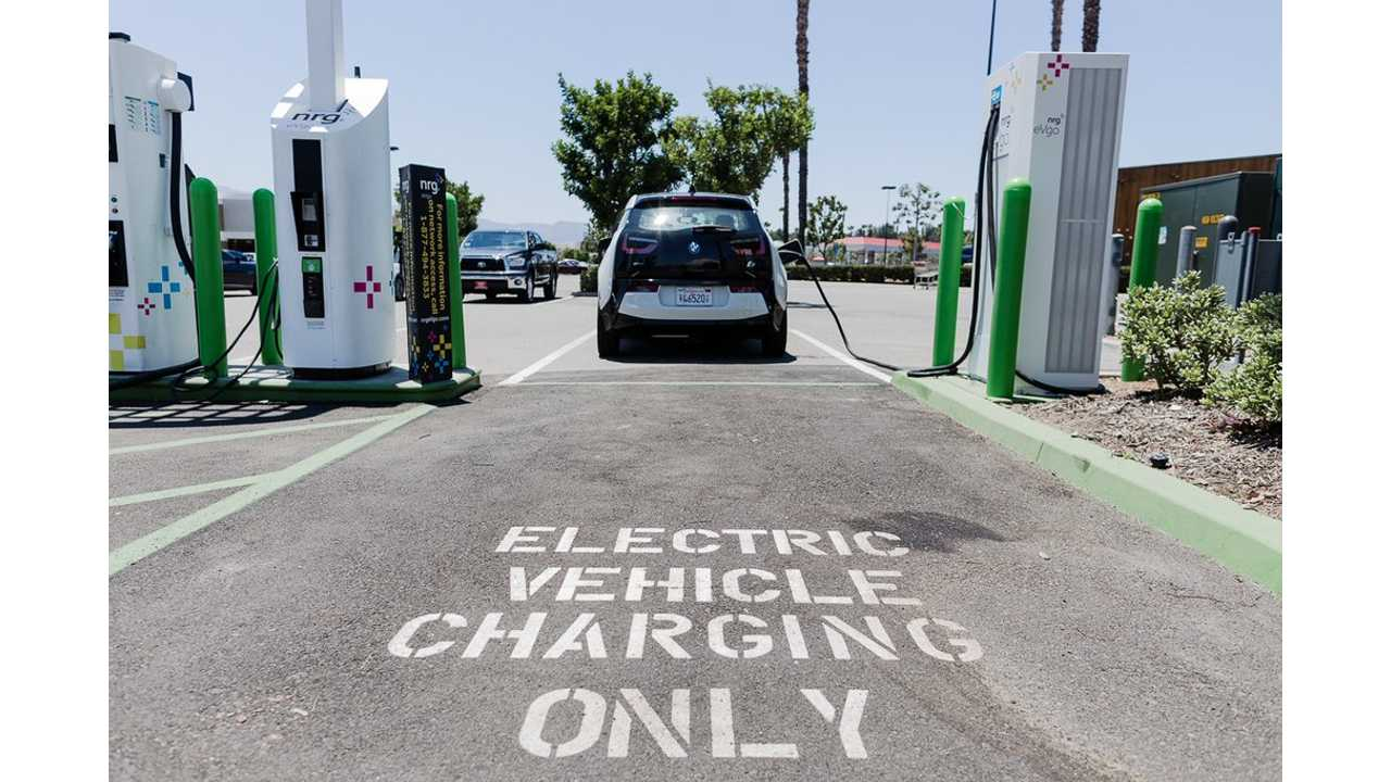 BMW i3 at EVgo DC fast charging station