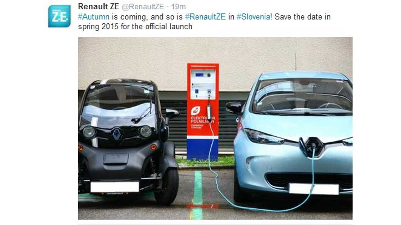 Renault To Sell Zoe, Twizy In Slovenia Starting In Spring 2015