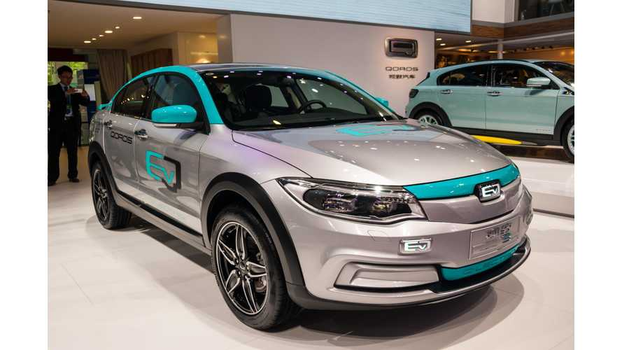 Qoros Green-Lights 350 km/218 Mile EV For End of 2016