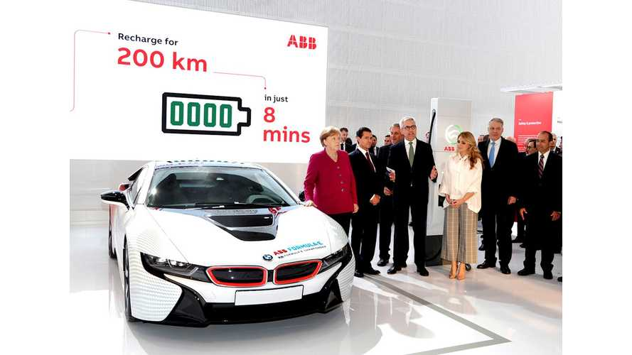 "ABB Launches ""World's Fastest"" Charger - 350-kW Terra"