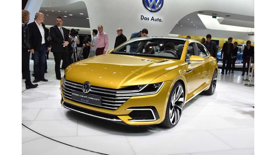 Volkswagen Sport Coupé Concept GTE - Live Images + Video From Geneva