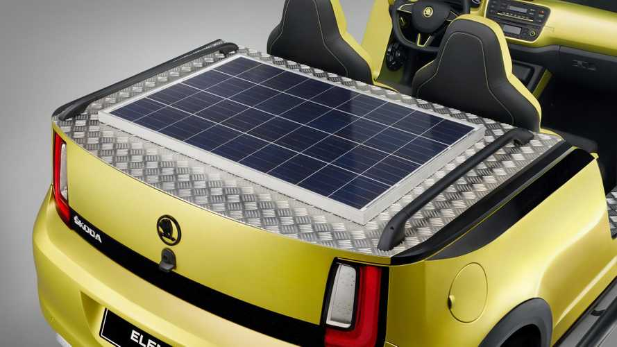 Doorless Skoda Element Shows Off Solar Panel Setup