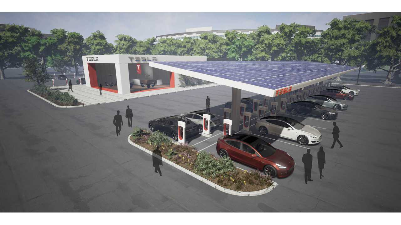 Permits Reveal Tesla Is Working On 40-Stall Supercharger Between Las Vegas And Los Angeles