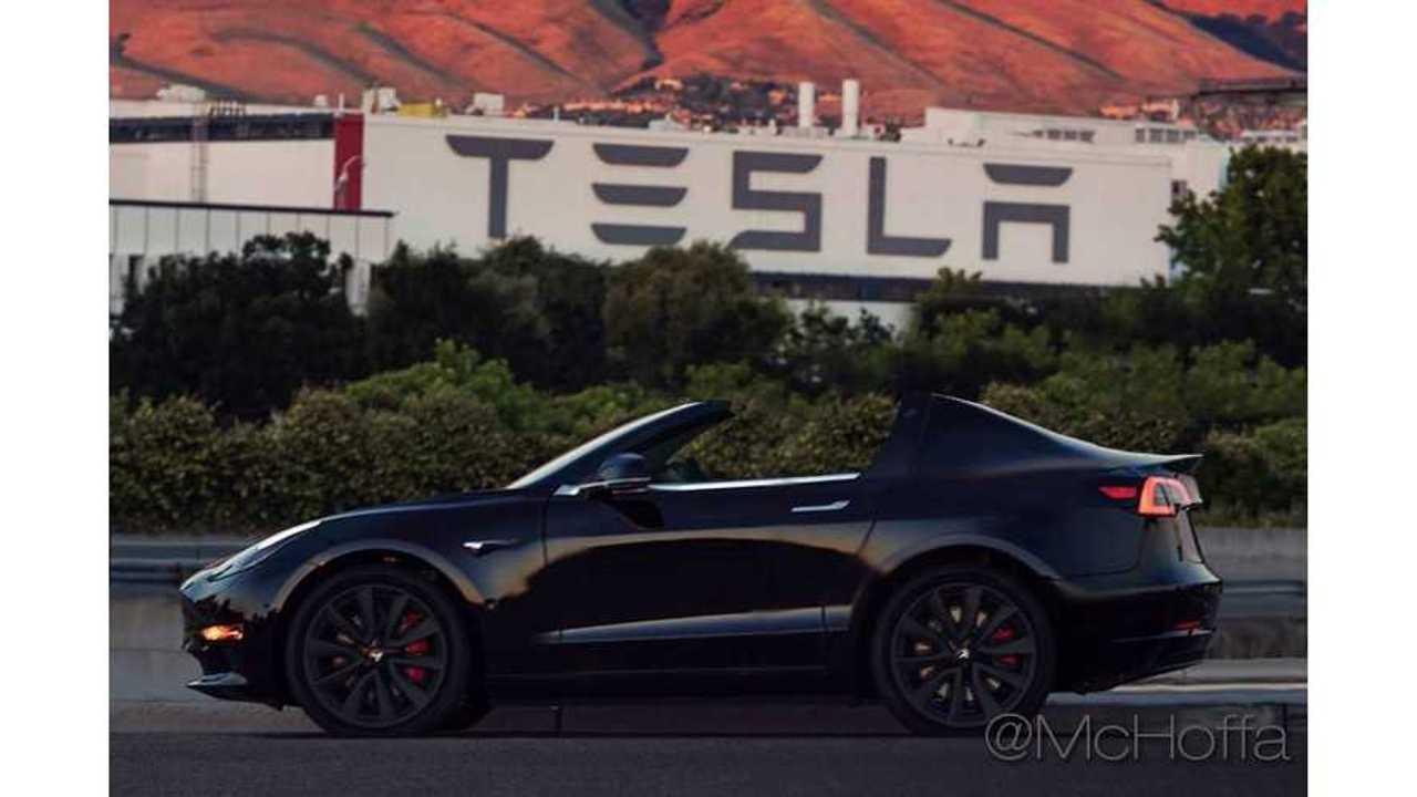 Tesla Model 3 Roadster Rendered