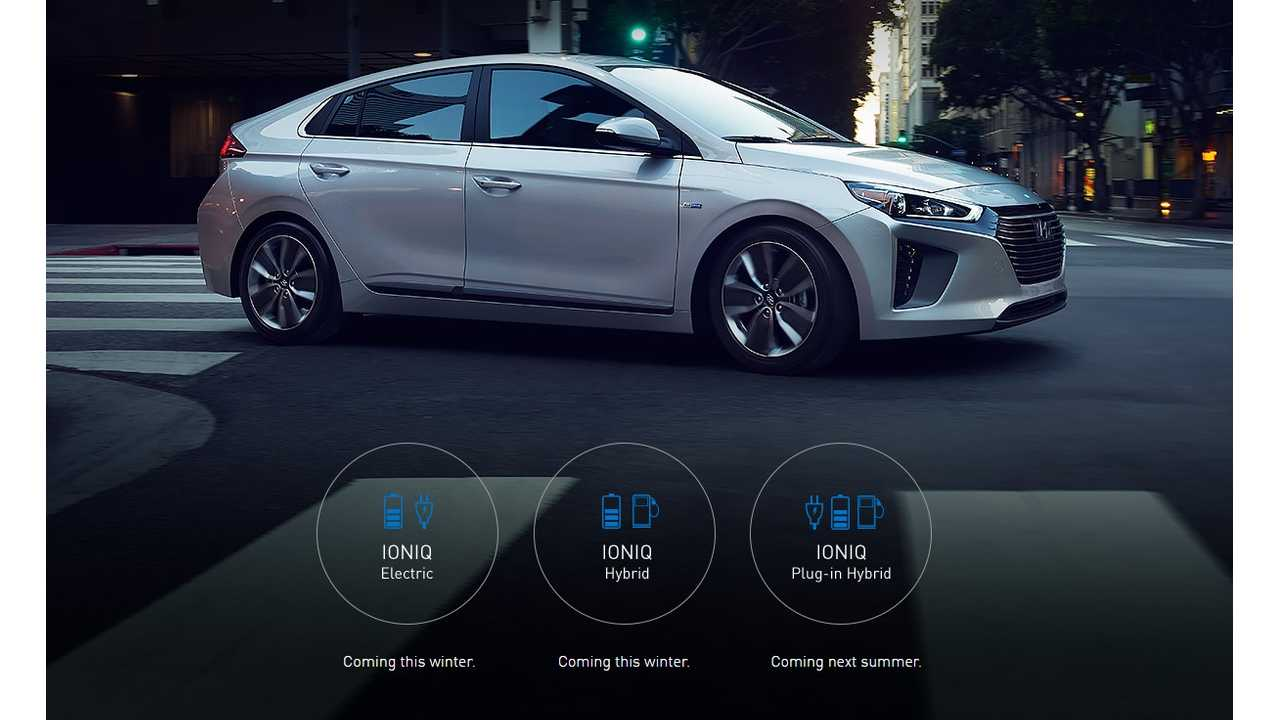 Previous Hyundai IONIQ Lineup Release Schedule For U.S. - Note: Hyundai Released This Image In January 2017
