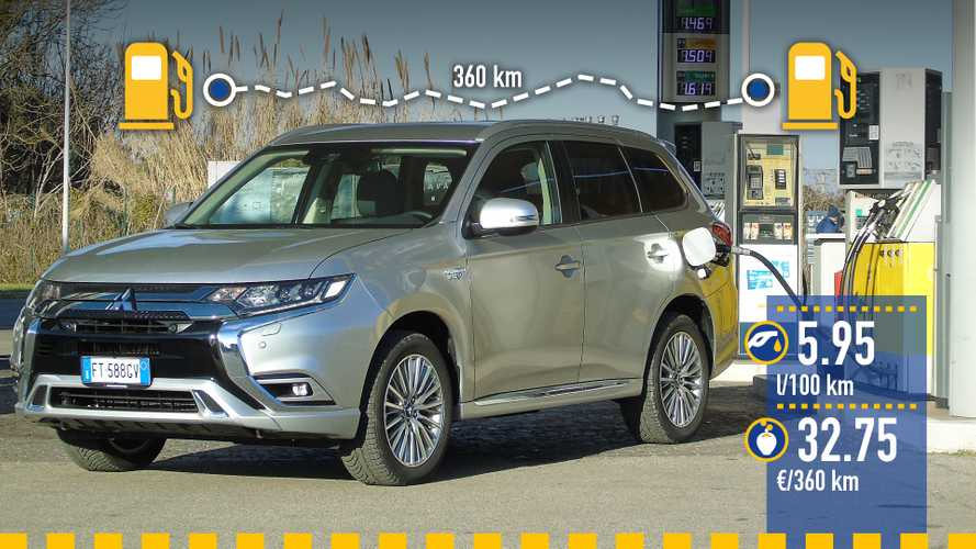 Mitsubishi Outlander PHEV: реальный расход топлива