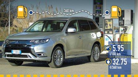 Mitsubishi Outlander PHEV, la prova dei consumi reali