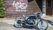 BMW R18 Departed outside the Custom Works Zon shop