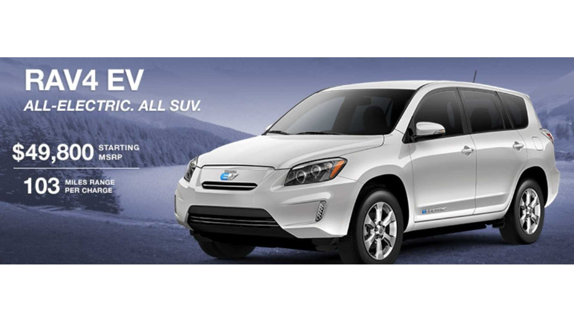 Toyota S The Rav4 Ev By Up To 7 500 And Offers 0 Gain Zev Credits