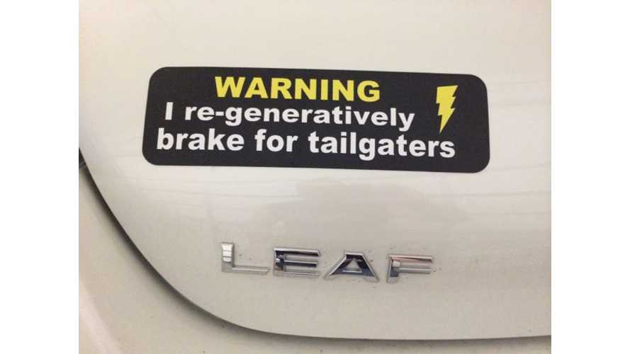 Clever Reader-Made Magnetic Bumper Sticker For EVs