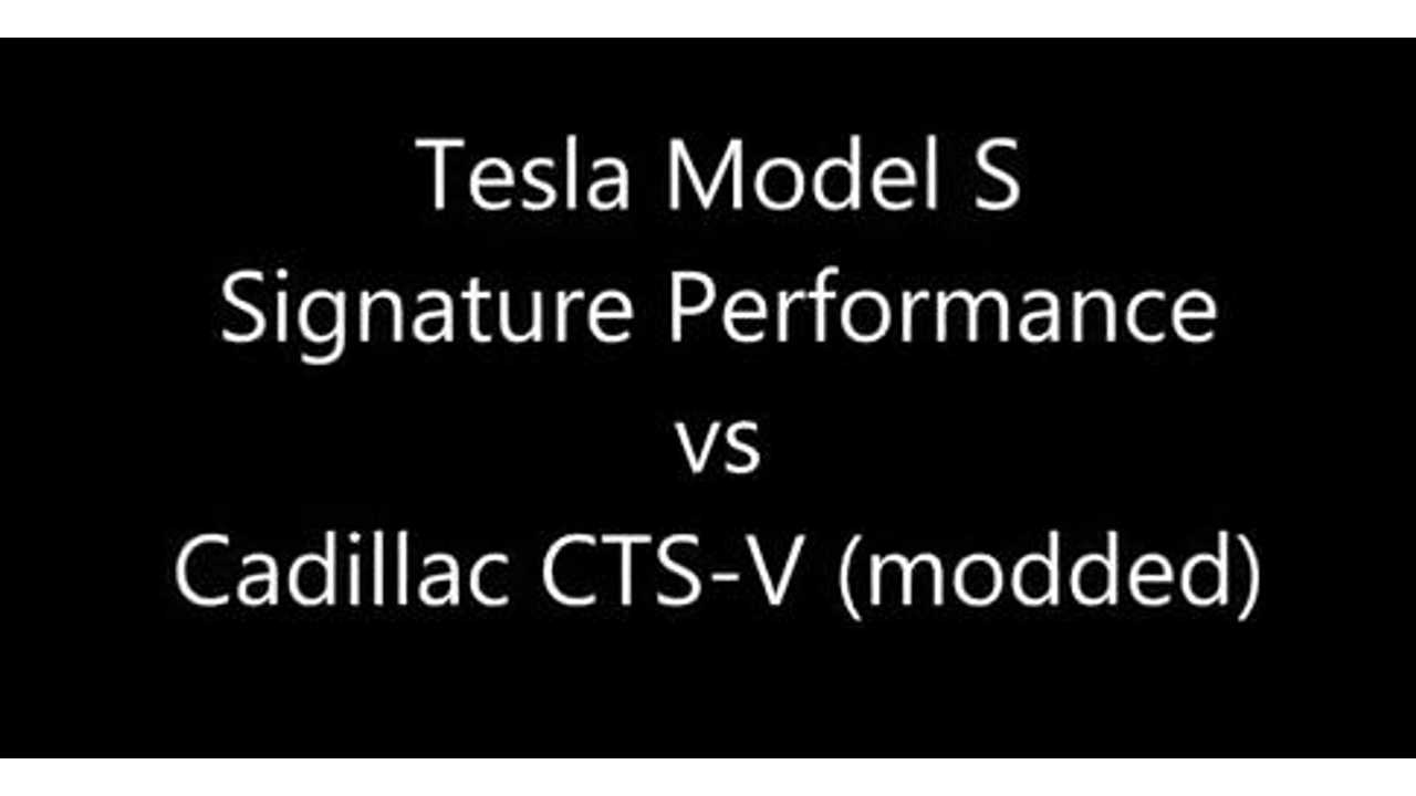 Video: Tesla Model S Takes on Modded 609 HP Cadillac CTS-V at Drag Strip