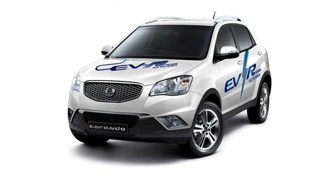 Ssangyong Motors Unveils Korando C Ev R Extended Range Electric Vehicle