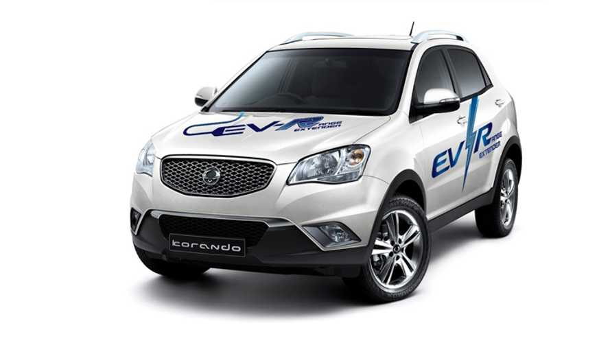 Ssangyong Motors Unveils Korando C EV-R Extended-Range Electric Vehicle