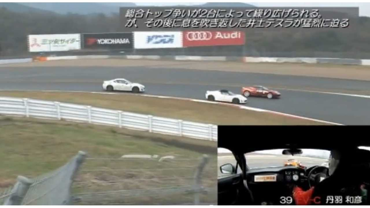 Tesla Roadsters Go Out On A Limb In ALL JAPAN EV-GP Series Round 6 (w/video)