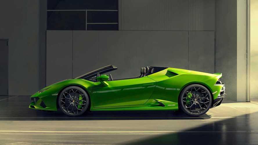Lamborghini Huracán Evo Spyder entblättert sich in Genf