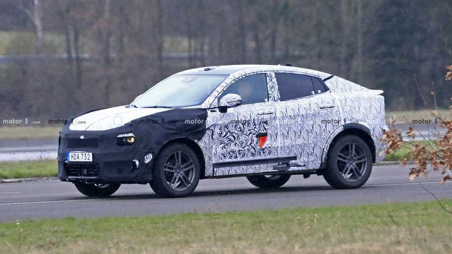 Lynk & Co 01 Coupe crossover spied testing in Germany