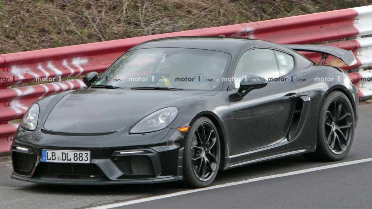 porsche 718 cayman gt4 spied completely naked. Black Bedroom Furniture Sets. Home Design Ideas