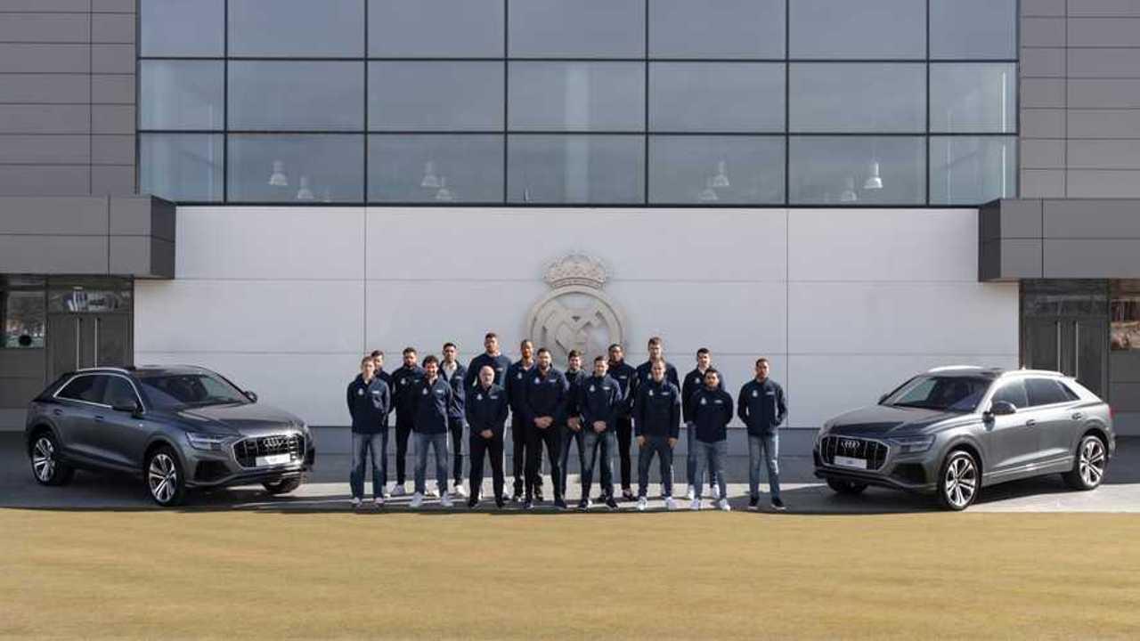 Coches plantilla Real Madrid de Baloncesto
