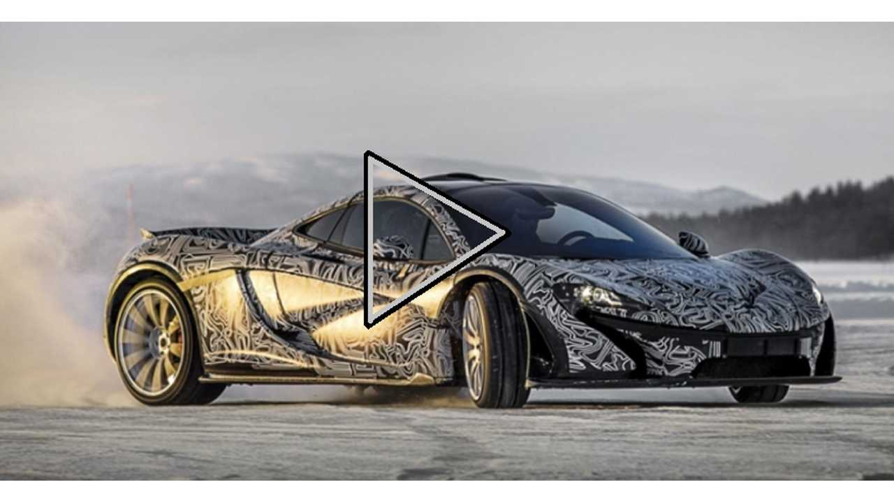 Video: Plug-In Hybrid McLaren P1 Wags its Tail in Winter