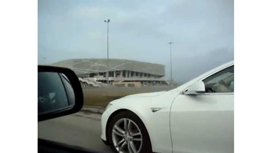 Tesla Model S Versus Mazdaspeed 3 - Video