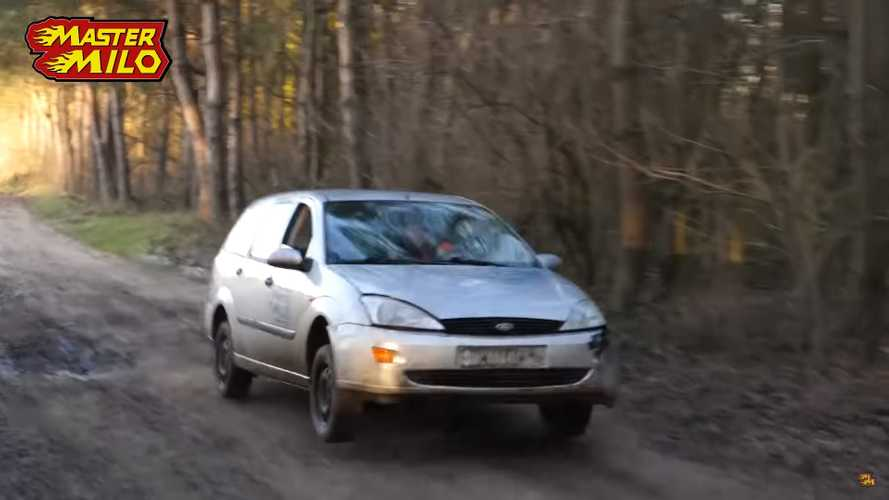 Ford Focus without shock absorbers makes for a bumpy ride