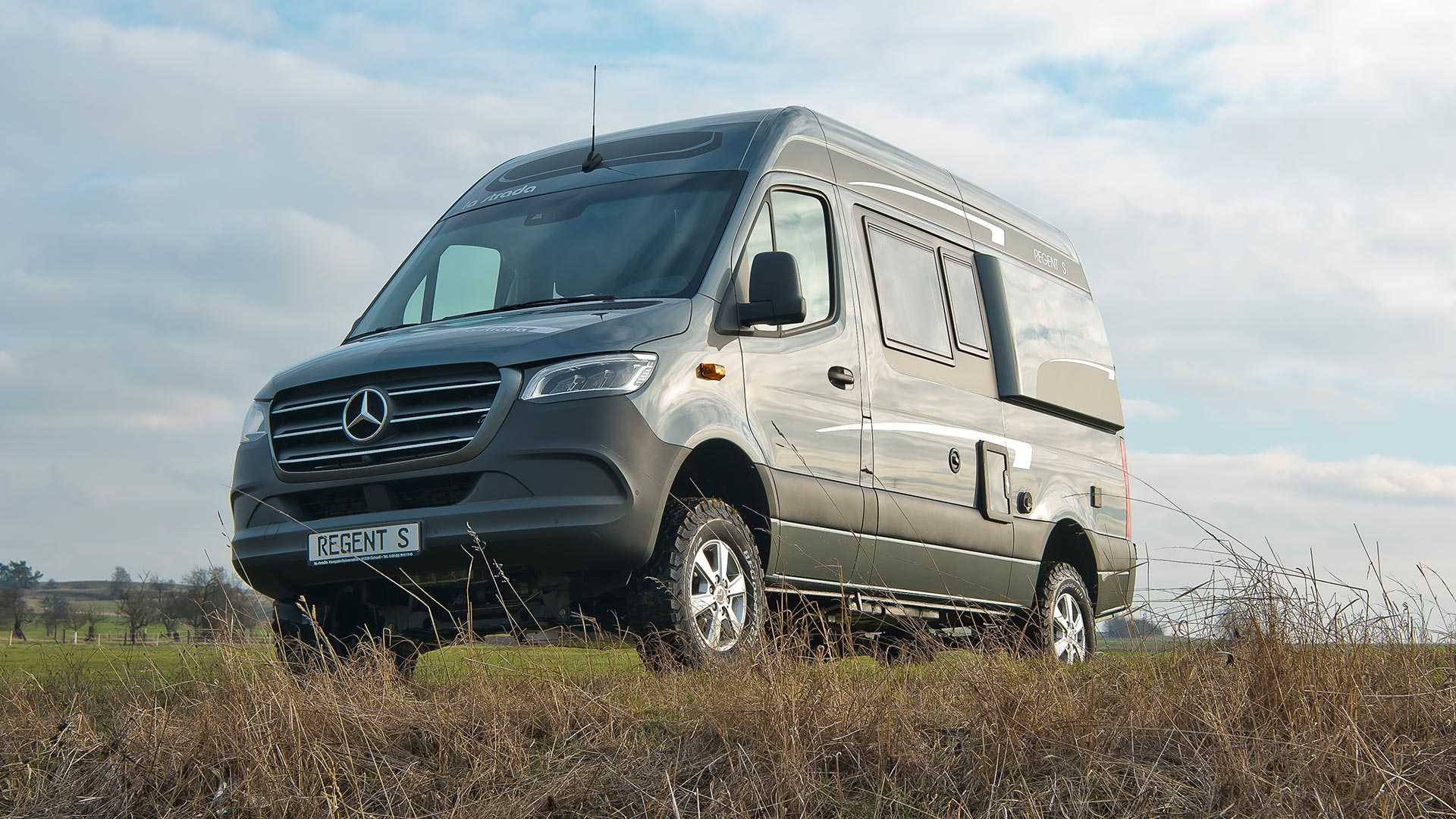 Mercedes Sprinter Turned Into Lifted 4x4 Camper