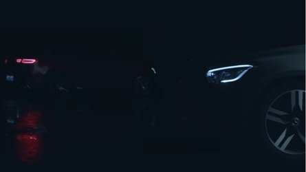 2020 Mercedes GLC Coupe facelift teases its new lights