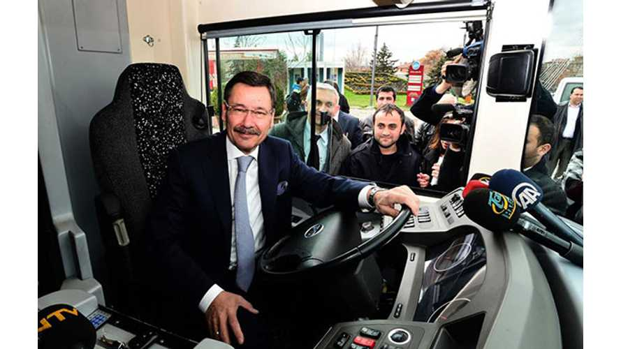 BYD Starts Electric Bus Trials in Turkey