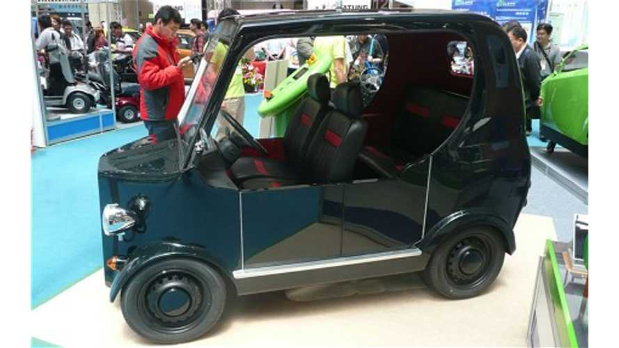 Electric Vehicles On Display At Taiwan Auto Show
