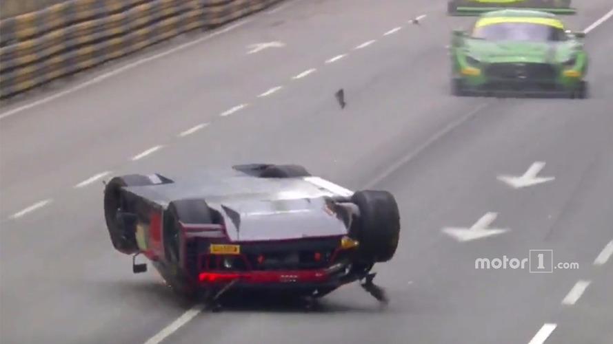 Massive crash at GT World Cup