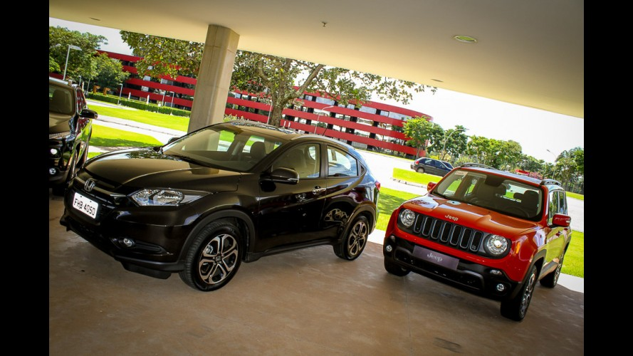 SUVs compactos em maio: HR-V dispara, Renegade é 4º e 2008 perde do Tracker