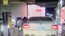 Bentley Flying Spur parking lot crash
