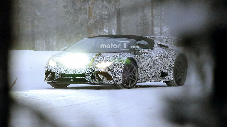 2018 Lamborghini Huracan Spyder Performante and Huracan Superleggera spy photos
