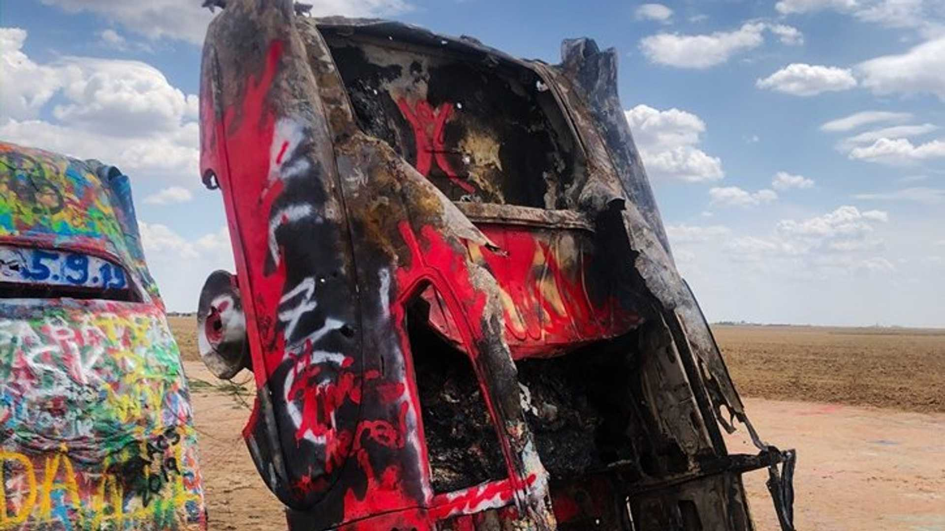 "[""Cadillac Ranch Was A Target Of Arson""]"