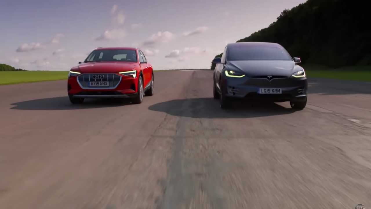Tesla Model X Drag versenyek Audi E-Tron
