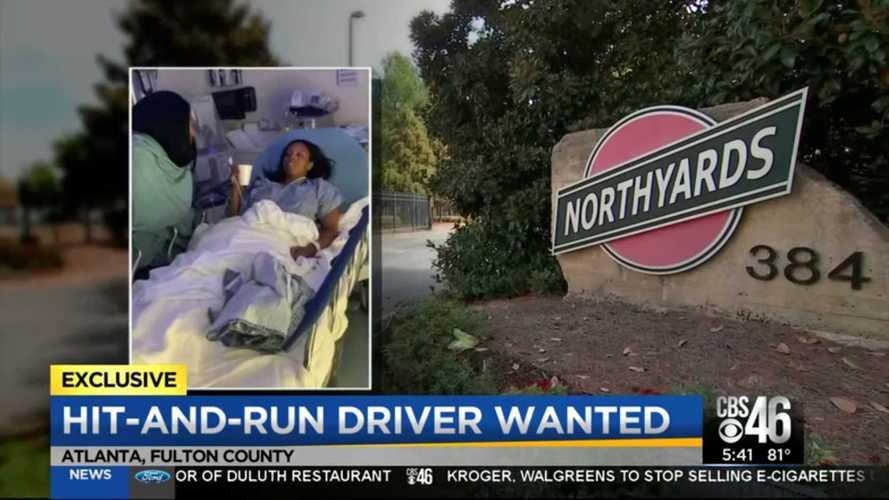 White Tesla Model 3 Driver Knocks Pedestrian In Georgia And Flees
