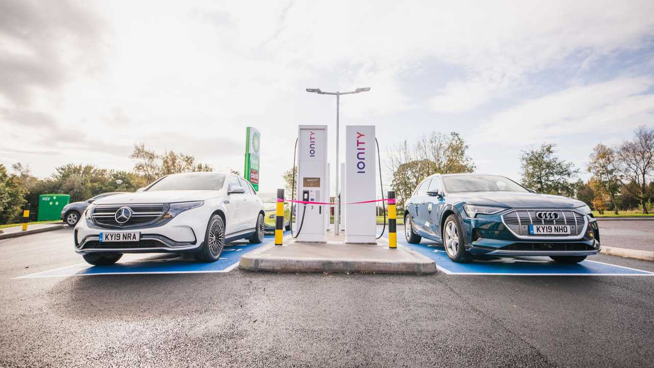 IONITY fast charging station in Scotland
