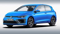 VW Golf 8 three-door rendering