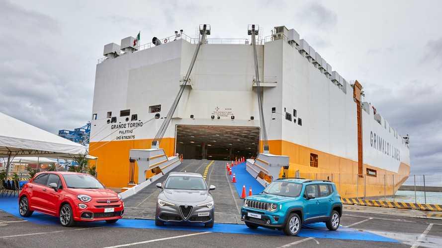 La nave ecologica che porta Fiat e Alfa Romeo in USA