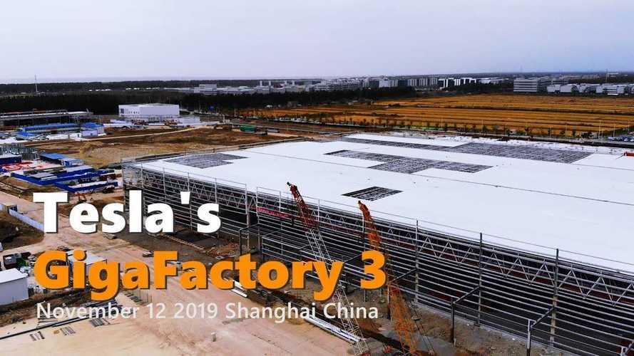 Tesla Gigafactory 3 Construction Progress November 12, 2019: Video