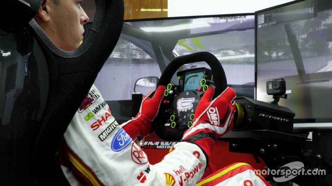 Scott McLaughlin on the DJR Team Penske simulator