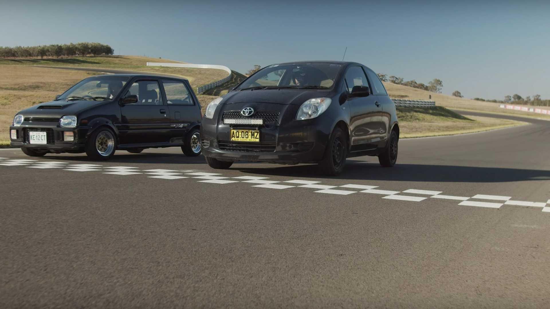 Daihatsu Mira Fights Toyota Yaris In City Cars Track Duel
