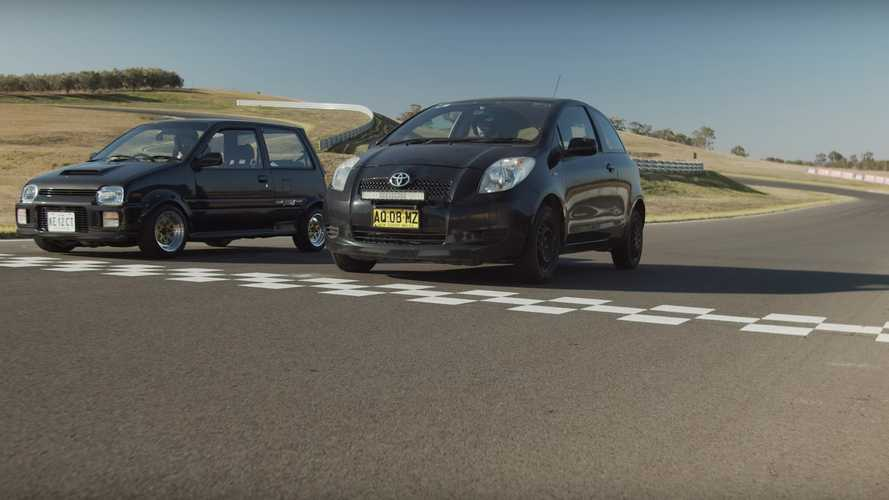 Daihatsu Mira fights Toyota Yaris in city cars track duel