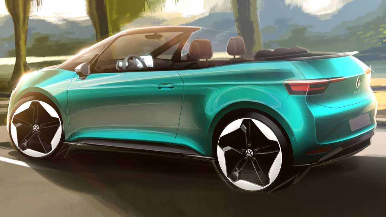 Official rendering previewing VW ID.3 cabriolet