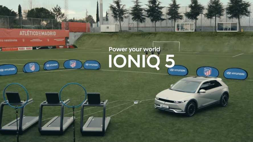 Hyundai Soccer Training Videos Tout Ioniq 5's Stationary Power Source