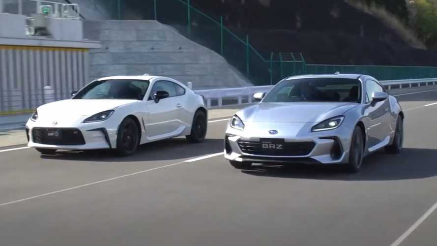 2022 Toyota GR 86 And 2022 Subaru BRZ Compared In Video Matchup